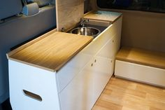 Ollie's recently bought his LWB T5 and delivered it to us completely empty. Rather than a traditional kitchen interior layout, Ollie wanted a more flexible interior with a bulkhead unit that could be removed is required (which accounts for the lower right hand door – it's not a design fail!). Our design incorporated a unit…