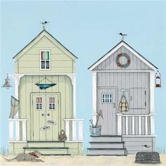 Beach Huts (Sally Swannell)