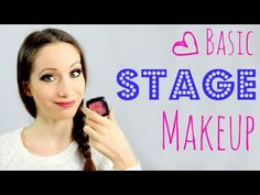 Basic Stage Makeup Tutorial! - YouTube                                                                                                                                                                                 More