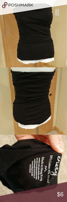 Black and white tube top Black and white tube top with built in bra Tops Tank Tops