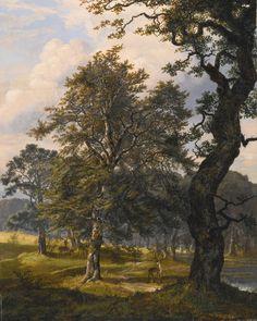 Johan Christian Clausen Dahl - Dyrehaven near Copenhagen,1853