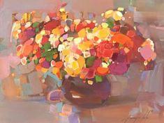 "Saatchi Art Artist Vahe Yeremyan; Painting, ""Flowers, Oil painting, One of a kind"" #art"