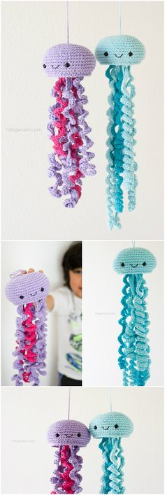 Here we have shared a grand list of free crochet amigurumi patterns that all makes perfect cuddly toys and can also be used as best lovey to your babies!Crochet Jellyfish