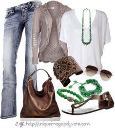 Copper & Green Accessories. Me encanta la cartera, y la pulsera, y las cholitas y... Jajaja