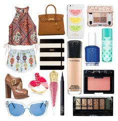 """Sin título #229"" by frichu on Polyvore featuring moda, H&M, Lipsy, Michael Kors, Hermès, Kate Spade, Christian Louboutin, Boohoo, MAC Cosmetics y Essie"