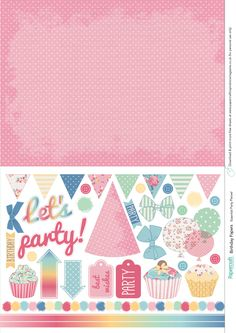 Birthday free printable papers from Papercraft Inspirations 151 Papercraft Inspirations 151 free printable papers Free Scrapbook Paper, Papel Scrapbook, Digital Scrapbooking Freebies, Kids Scrapbook, Printable Paper, Free Printable, Digital Paper Free, Birthday Card Template, Printable Designs