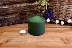 Κεριά Κυλινδρικά Πράσινα Φ10x10εκ Pillar Candles, Candle Holders, Porta Velas, Chandelier, Taper Candles, Candlesticks