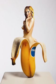 View Chiquita Banana by Mel Ramos sold at Contemporary Art Part II on 8 November 2011 New York. Jeff Koons Art, Trucage Photo, Photo Art, James Rosenquist, Hirst Arts, Banana Art, Jasper Johns, Feminist Art, Pin Up Art