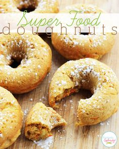 Super foods meet doughnuts in this delicious breakfast recipe. Easy to make, and the perfect easy and healthy weekday breakfast option!