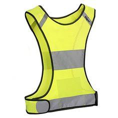 Reflective Safety Vest, High Visibility Safety Gear for Running, Cycling, Jogging, Biking, Walking ** For more information, visit image link.