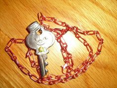 American Tourister key, upcycled necklace.