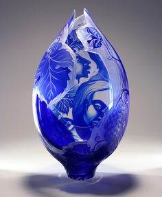 etched glass by Lisabeth Sterling. Very Dreamlike figurative work