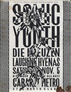1988 - Sonic Youth, die kreuzen + Laughing Hyenas