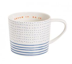 CUP WITH SAUCER: MAKE YOUR MARK