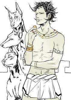 Hades. God of Wealth. King of the Dead. Artist: Cassandra Jean