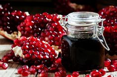 Top pomegranate molasses substitutes are cranberry juice concentrate, grenadine, balsamic vinegar & sugar, sweetened pomegranate juice syrup, & tamarind paste with honey. Pomegranate Recipes, Pomegranate Molasses, Pomegranate Juice, Cranberry Juice, Tart Taste, Sour Taste, Molasses Substitute, Cooking With Dates, La Grenadine