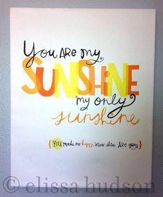 @Ashleigh Riley - You Are My Sunshine Nursery Canvas