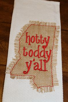 Items similar to University of Mississippi Ole Miss Go Rebels Hotty Toddy Y'all monogrammed kitchen towel/dish cloth-tailgating-shower-blue and red-go rebels on Etsy Mississippi University, Sewing For Dummies, College Crafts, Embroidery Applique, Embroidery Ideas, Cute Teacher Gifts, Ole Miss Rebels, School Colors, New Crafts