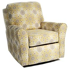 Cottage Glider Recliner In Choice Of Fabrics. In Red please! I love the Arabesque Garnet pattern