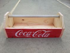 Coca Cola tool caddy with a vintage look. Use it to carry tools, use it as a flower box or as a decorative piece around the house. Made by Albert.
