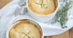 This delicious chicken pot pie for two is perfect for a cozy Sunday Supper or date night in!