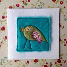 Your place to buy and sell all things handmade Friendship Cards, Get Well Soon, Bird Design, White Envelopes, Needle Felting, Hand Stitching, Thank You Cards, Birthday Cards, Whimsical