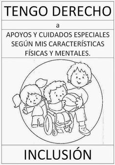 tareitas: DERECHO A LA INCLUSIÓN Middle School Spanish, Science Topics, English Activities, Guadalupe Victoria, Kids Education, Human Rights, Kindergarten, Homeschool, Teacher