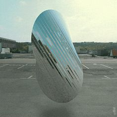 #gif #loop #3d #shape #oloid #hover #reflection