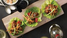 For even lower sodium content use reduced sodium soy sauce! Epicure Recipes, New Recipes, Epicure Steamer, General Tao Chicken, Thai Lettuce Wraps, Steamer Recipes, Low Sodium Recipes, Asian Cooking, Kid Friendly Meals