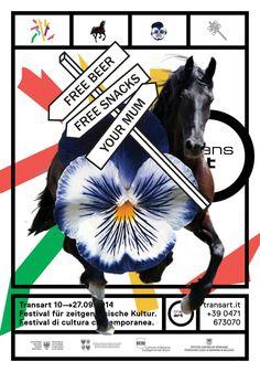 Poster for Transart Identity Redesign. Not realized. Design: Thomas Kronbichler, Max Edelberg. #sososorry