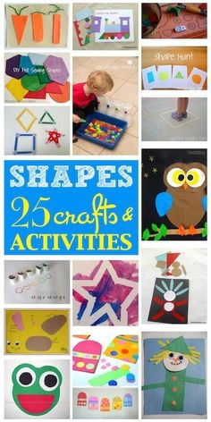 "25 Crafts and Activities all about SHAPES for your little ones to enjoy while listening to The Pop Ups new song ""All These Shapes"""