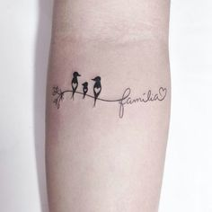This pin was discovered by apostolia g. discover (and save) your own pins o Sibling Tattoos, Family Tattoos, Sister Tattoos, Tiny Bird Tattoos, Small Tattoos, 3 Birds Tattoo, Wrist Tattoos, Tatoos, Tattoos For Daughters