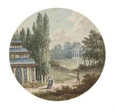 Vue de la Maison Chinoise dans le Désert de Retz
