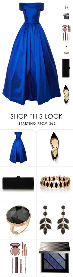 """""""Sin título #4545"""" by mdmsb on Polyvore featuring moda, Christian Louboutin, Edie Parker, Irene Neuwirth, Charlotte Tilbury y Burberry"""