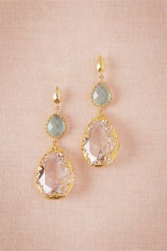 **** I like the seaglass-colored stone that would match the bridesmaids.  Looking Glass Drops from BHLDN