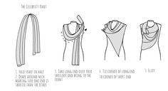 Ways to tie a scarf - The Celebrity knot scarf Instructions