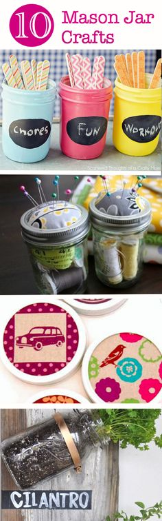 10 Cute and Clever Mason Jar Crafts