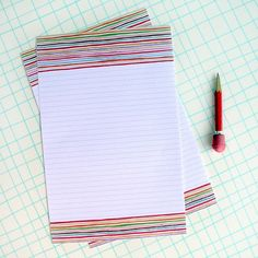 Watercolor Letter Writing Paper Stationery Sheets