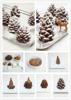 Make no mistakes! These are not real snowy pine cones for your Christmas decorations. They are yummy chocolate cakes that you can eat. Today ...