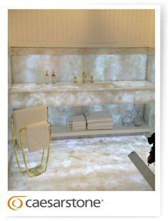 Caesarstone Concetto #8141 White Quartz. Just stunning! www.caesarstone.sg