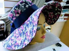 DIY Sombrero elegante para el verano African Print Fashion, Africa Fashion, Turban Headband Tutorial, Baby Pageant Dresses, Baby Girl Pants, Couture Embroidery, Coat Patterns, Hat Making, Scarf Styles