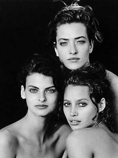 linda evangelista, tatjana patitz, Christy Turlington #90s supermodels