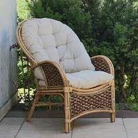 Duży rattanowy fotel ogrodowy na taras m01f