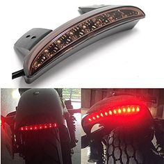 Motorcycle Smoke LED Stop Brake License Plate Rear Tail Light Stop Running Light for Harley(Smoke Lens). For product info go to:  https://www.caraccessoriesonlinemarket.com/motorcycle-smoke-led-stop-brake-license-plate-rear-tail-light-stop-running-light-for-harleysmoke-lens/
