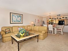 Open living room / dining room  and kitchen area.... great for entertaining.  www.mysanibelrealestate.com