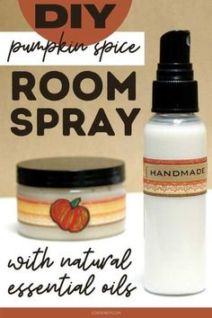 DIY Pumpkin Spice Room Spray with Essential Oils for Fall. Learn how to craft a DIY pumpkin spice room spray for fall. This natural room spray recipe is a great way to add a seasonal fragrance to your home. Plus it's really easy to make! Keep reading to discover how to make a natural fall rooms spray with essential oils. Or try this recipe using a pumpkin spice fragrance oil. Plus ideas for more ways to use my warm and spicy pumpkin spice essential oil blend for perfume, body sprays and… Fall Essential Oils, Cardamom Essential Oil, Essential Oils Room Spray, Cinnamon Essential Oil, Essential Oils Cleaning, Natural Essential Oils, Essential Oil Blends, Diy Pumpkin, Pumpkin Spice