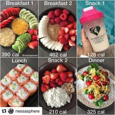 Healthy Recipes Nothing feels better than finally be back to my daily workouts and healthy eating FOOD DIARY from t - Health and Nutrition Healthy Eating Recipes, Healthy Meal Prep, Daily Meal Prep, Meal Recipes, Stay Healthy, Lunch Recipes, Healthy Snacks, Comidas Fitness, Fruit Snacks