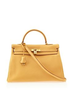 A pre-owned Hermes Clemence Kelly Bag. Love the look, but it's for sale at $12,000. Seriously!