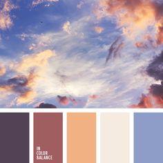 бледный желтый, коричневый, оттенки заката, оттенки розового заката, оттенки фиолетового, розово-оранжевый, розовый закат, фиолетовый, цвет неба на закате, цвета розового заката.