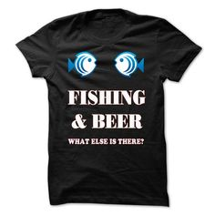 Awesome Tee Fishing & Beer  Shirts & Tees